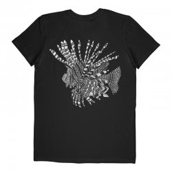 Lionfish design T-shirt Black