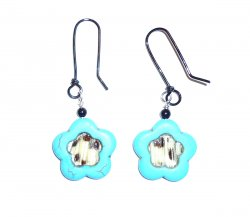 Turquoise Lionfish Earrin