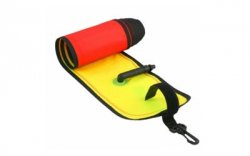 6' Yellow and orange safety marker buoy